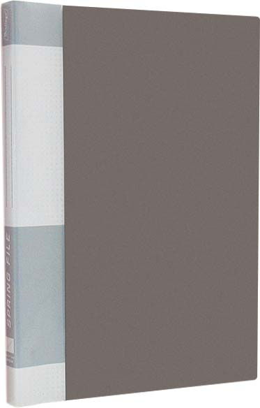 "Папка-скоросшиватель А4, серая, карман на корешке, внутр.карман, 17мм, 700мкм ""Standard"" (Berlingo)"