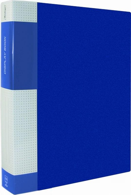 """Папка на 100 файлов, синяя, торцевой карман, 40мм, 800мкм """"Standard"""" (Berlingo)"""