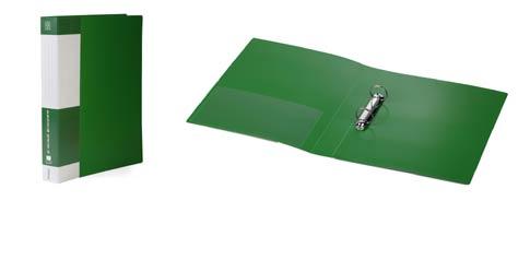 """Папка на 2 кольца, 40мм, зеленая, торцевой карман, 700мкм, """"Standard"""" (Berlingo)"""