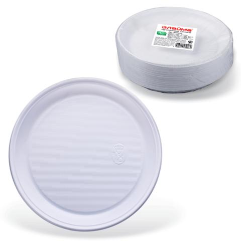 Комплект тарелок (100шт), десертных, д-220мм (ЛАЙМА)