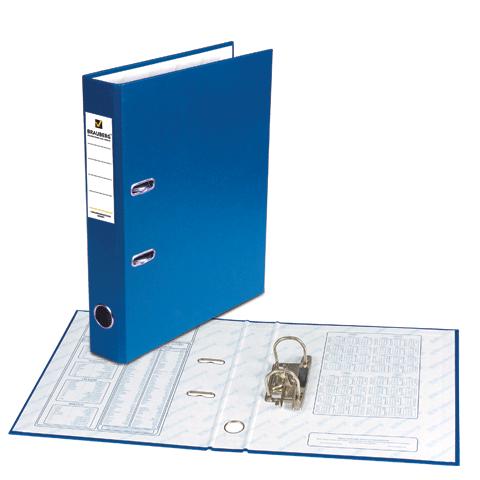 Папка-регистратор 50мм, синяя, ПВХ 25шт/кор (BRAUBERG)
