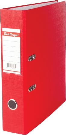 Папка-регистратор 70мм, красная, бумвинил, с карманом на корешке 20шт/уп (Berlingo)