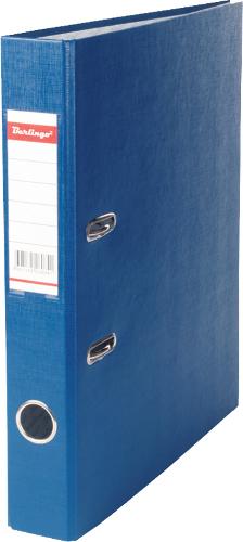 Папка-регистратор 50мм, синяя, бумвинил, с карманом на корешке 25шт/уп (Berlingo)