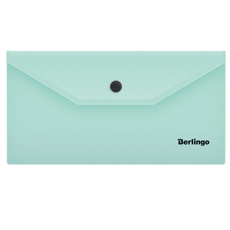 """Папка-конверт на кнопке С6, мятный, 180мкм, """"Instinct"""" 5шт/уп (Berlingo)"""