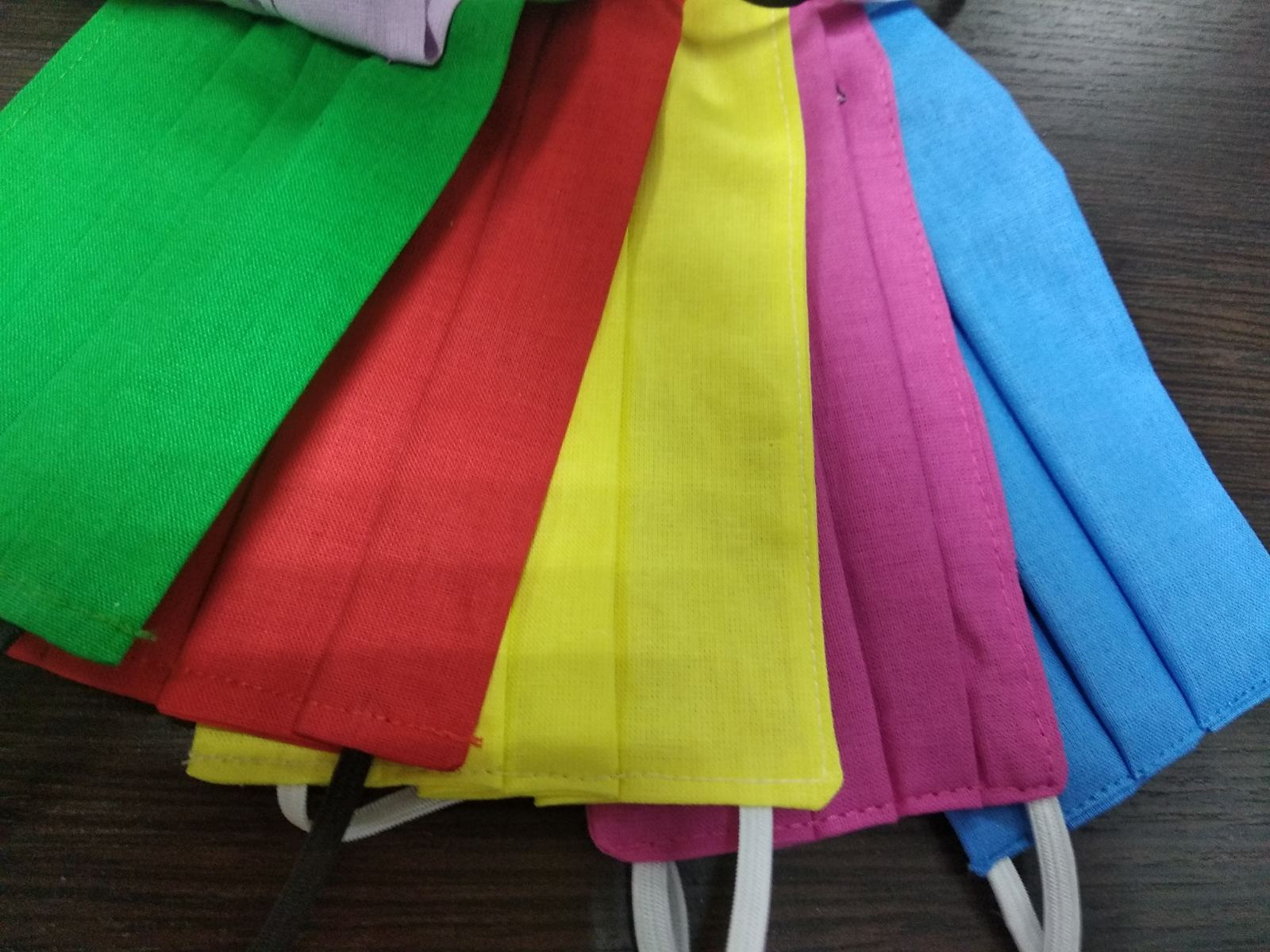 Маска текстильная цветная, ассорти