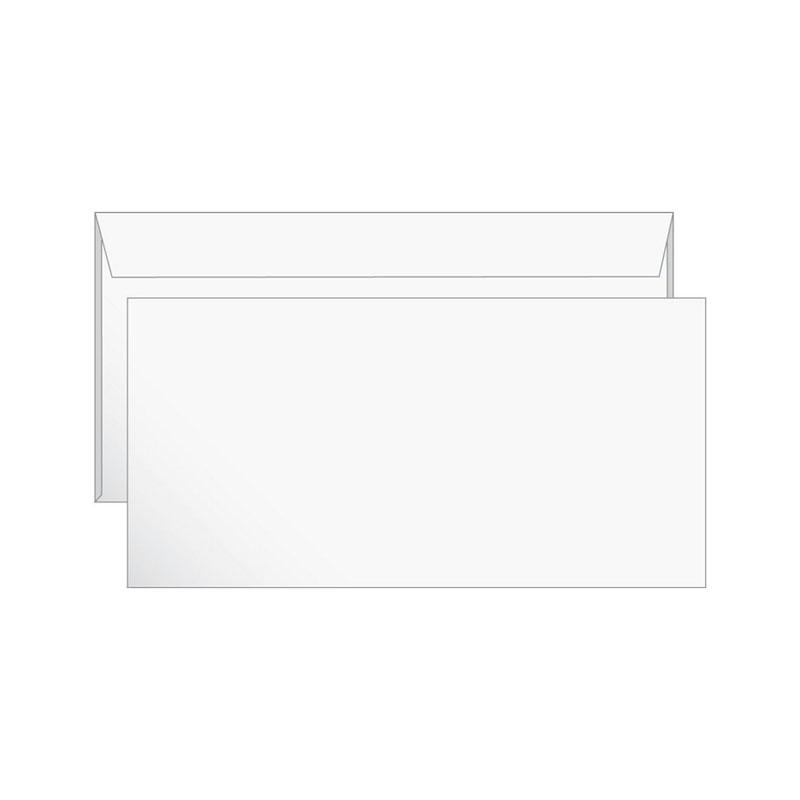 Конверт Е65 (110х220) белый, отрывная лента 1000шт/уп (1120)