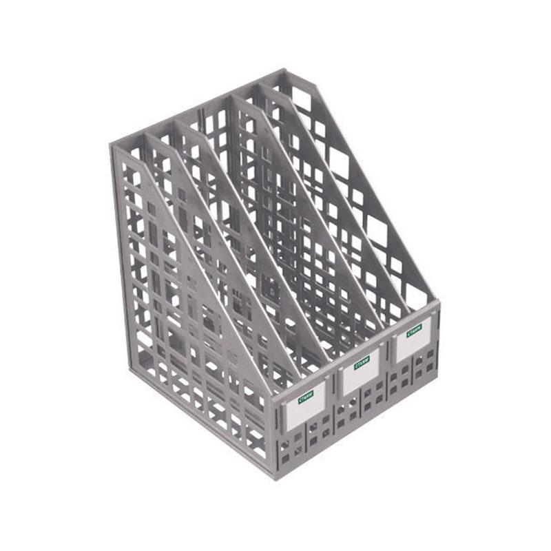 Лоток вертикальный 5 отделения, серый (СТАММ)