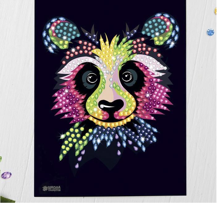 """Алмазная мозаика стразами """"Панда"""""""