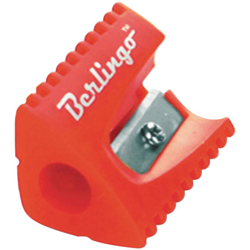 Точилка пластиковая 1 отверстие, ассорти 36шт/уп (Berlingo)
