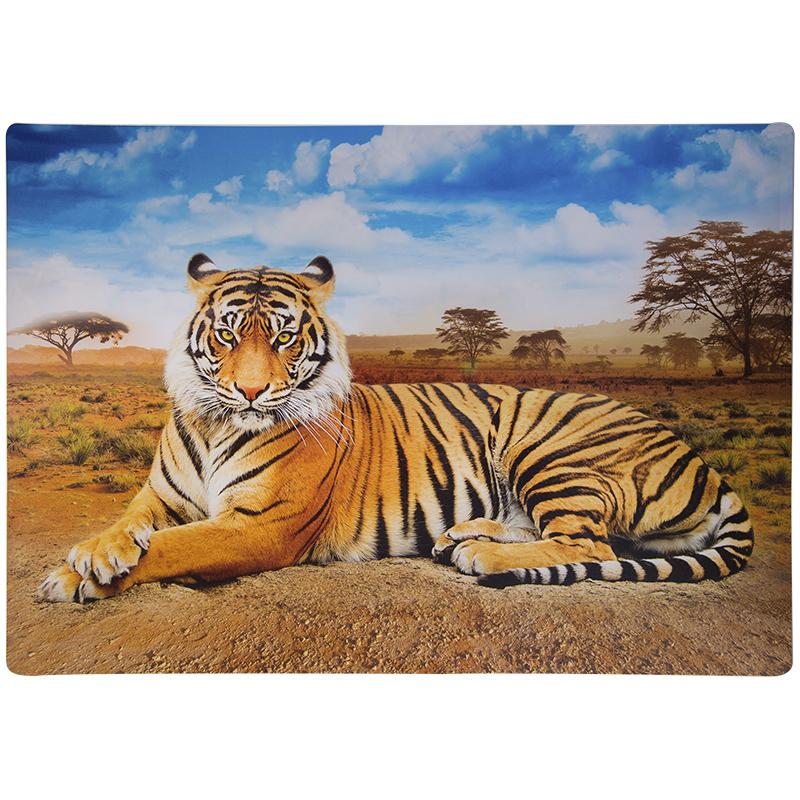"""Коврик-подкладка д/письма 33х46см, пластик, цветная печать """"Дикие кошки"""" (ArtSpace)"""