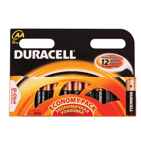 Батарейка AA (поштучно), LR6, 1.5В, 12шт/уп (работают до 10 раз дольше) (DURACELL)