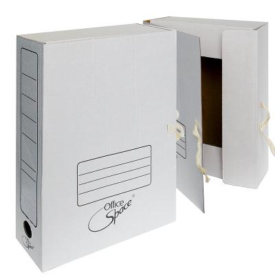 Папка архивная 75мм, МГК, с завязками, белая (OfficeSpace)