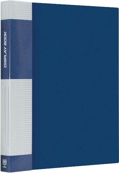 "Папка на 80 файлов, синяя, карман на корешке, 40мм, 800мкм ""Standard"" (Berlingo)"