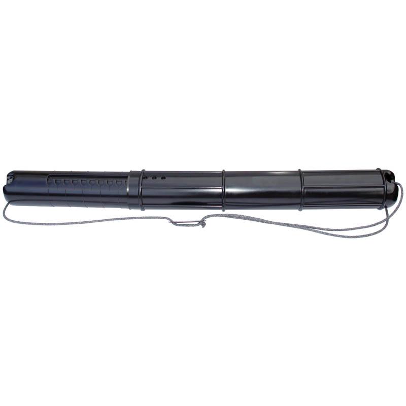 Тубус для чертежей, д-90мм, длина-70-110см, телескопический, на шнурке, черный (Стамм)