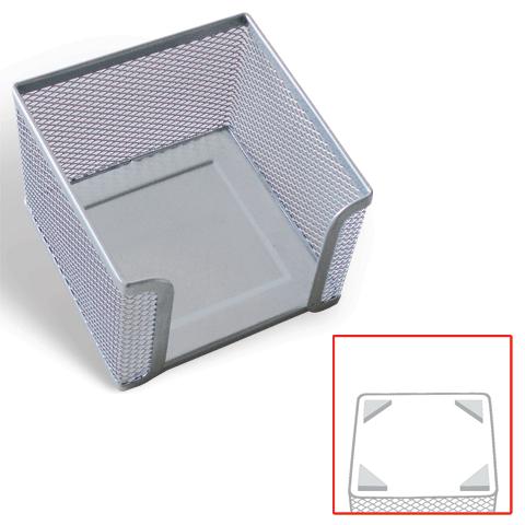 "Бокс для бумажного блока 78х105х105мм, металлическая, серебристая ""Germanium"" (BRAUBERG)"