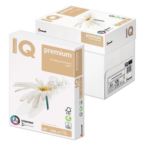 """Бумага А3, 120гр/м2, 250л, белая класс""""А++"""" белизна 169% (CIE) """"PREMIUM"""" (IQ)"""