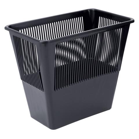 Корзина для бумаг 12л, сетчатая, прямоуголяная, черная (Стамм)