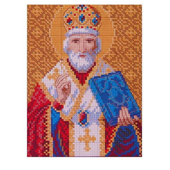 Алмазная мозаика 34 цвета «Святой Николай Чудотворец»
