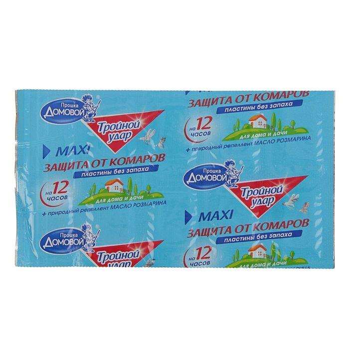 Пластины от комаров Домовой Прошка Тройной удар, 10 шт