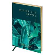"""Записная книжка А5 80л, кожзам, тон. блок, зол.срез, """"Vision. Mysterious leaves"""" (Greenwich Linе)"""