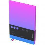 """Записная книжка А5, 80л, кожзам, черный срез, розовый/голубой градиент """"Radiance"""" (Berlingo)"""