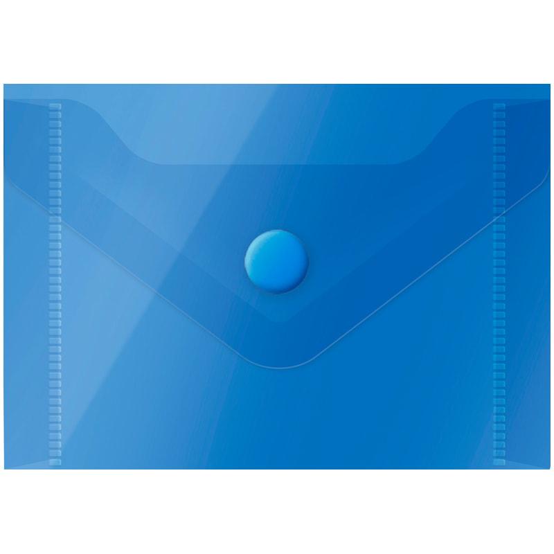 Папка-конверт на кнопке А7, синяя, 150мкм, 20шт/уп (OfficeSpace)